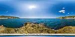 отдых в Крыму: пляж в Понизовке: вид с моря