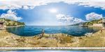 отдых в Крыму: пляж санатория Днепр в Гаспре