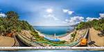 отдых в Крыму: спуск на пляж санатория Днепр в Гаспре