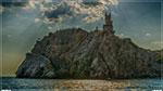отдых в Крыму: Ласточкино гнездо, вид с моря