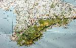 отдых в Крыму: Карта южной части Крыма