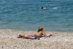 отдых в Крыму: На пляже в Любимовке