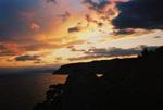 отдых в Крыму: Закат. Вид с горы Караул-Оба (Новый Свет).