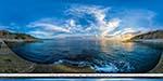 отдых в Крыму: закат на пляже в Понизовке