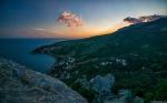отдых в Крыму: Закат над Голубым заливом