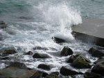 отдых в Крыму: Игра волн. Утёс.