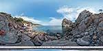 отдых в Крыму: пляж у скалы Дива в Симеизе