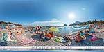 отдых в Крыму: городской пляж Симеиза у плит
