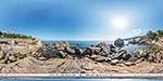 отдых в Крыму: Детский пляж в Алупке: вид с камня