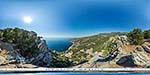отдых в Крыму: вид на Кацивели и Понизовку с горы Кошка