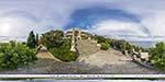 отдых в Крыму: Воронцовский дворец в Алупке: львиная терраса