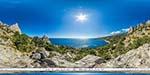 отдых в Крыму: дорога под горой Кошка в Симеизе