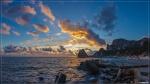 отдых в Крыму: Январский закат в Симеизе
