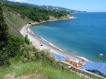 отдых в Крыму: Пляж в Алупке начало июня 2009г.