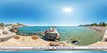 отдых в Крыму: пляж у яхт-клуба в Алуште