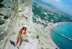 отдых в Крыму: Вид с Судакской крепости на береговую линию Судака