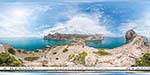 отдых в Крыму: гигапиксельная панорама: мыс Капчик в Новом Свете