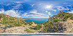 отдых в Крыму: вид на мыс Капчик с тропы Караул-Оба