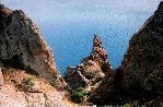отдых в Крыму: Карадаг, скала Иван разбойник