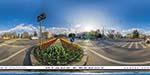 отдых в Крыму: площадь Ушакова в Севастополе: весна