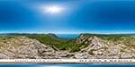 отдых в Крыму: гора Каланых-Кая: вид на Байдарскую долину и Ласпи