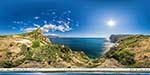 отдых в Крыму: дорога к пляжу Васили в Балаклаве