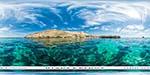 отдых в Крыму: пляж Голубая бухта и скалы
