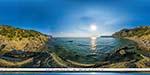 отдых в Крыму: Серебрянный пляж в Балаклаве - вид со скалы