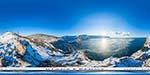 отдых в Крыму: зимний вид на Балаклаву с мыса Курон