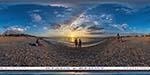 отдых в Крыму: закат на пляже в Любимовке