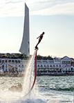 отдых в Крыму: Соревнования по флайборду в рамках парусной недели