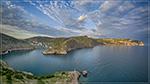 отдых в Крыму: Весенний закат в Балаклаве, и в море резвятся много дельфинчиков!