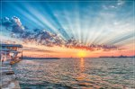отдых в Крыму: предсалютный закат в день ВМФ