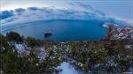 отдых в Крыму: Фиолент в снегу