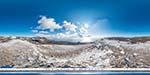 отдых в Крыму: зимний вид с горы Спирады над Понизовкой