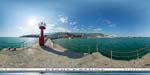 отдых в Крыму: маяк на набережной Ялты