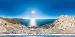 отдых в Крыму: вид на бухту Ласпи с Куш-Кая